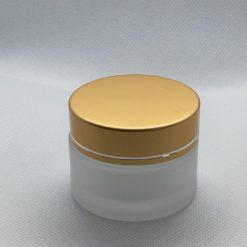 צנצנת זכוכית פרוסטד 30 מ״ל כולל מכסה