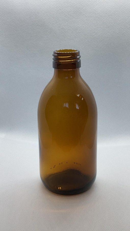 בק׳ זכוכית ליטר חום פיה 28 כולל פקק הברגה