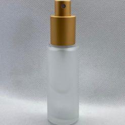 בקבוק זכוכית פרוסטד 35 מ״ל כולל מתז צבע זהב