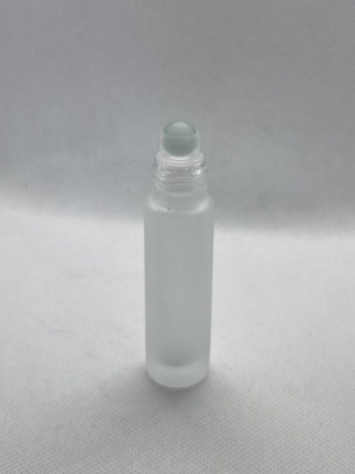 בקבוק רולאון זכוכית פרוסטד 10 מ״ל מכסה זהב לשפתונים