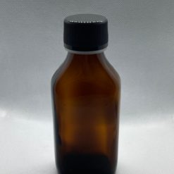 בקבוק זכוכית חום מלבני 100 מ״ל