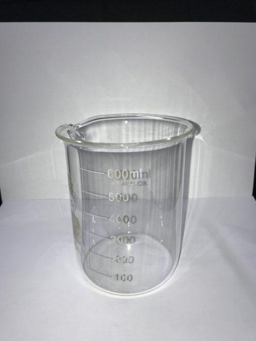 כלי מדידה מזכוכית לנוזלים 600